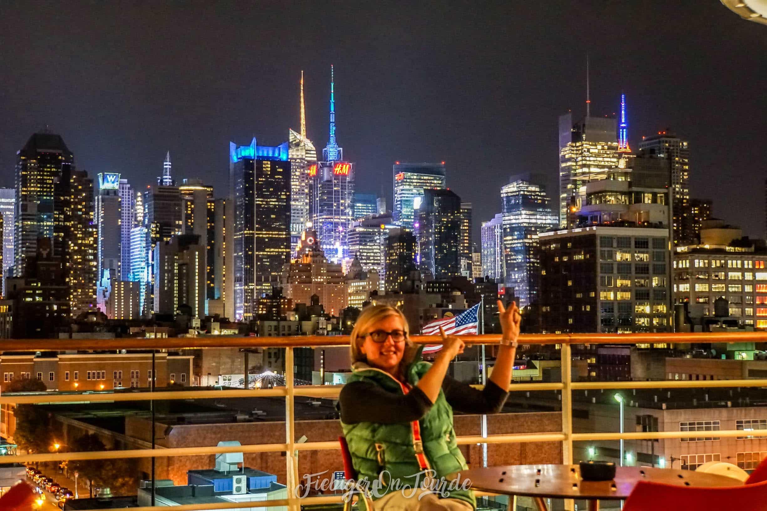 Blick von der AIDAdiva auf die Manhattan Skyline