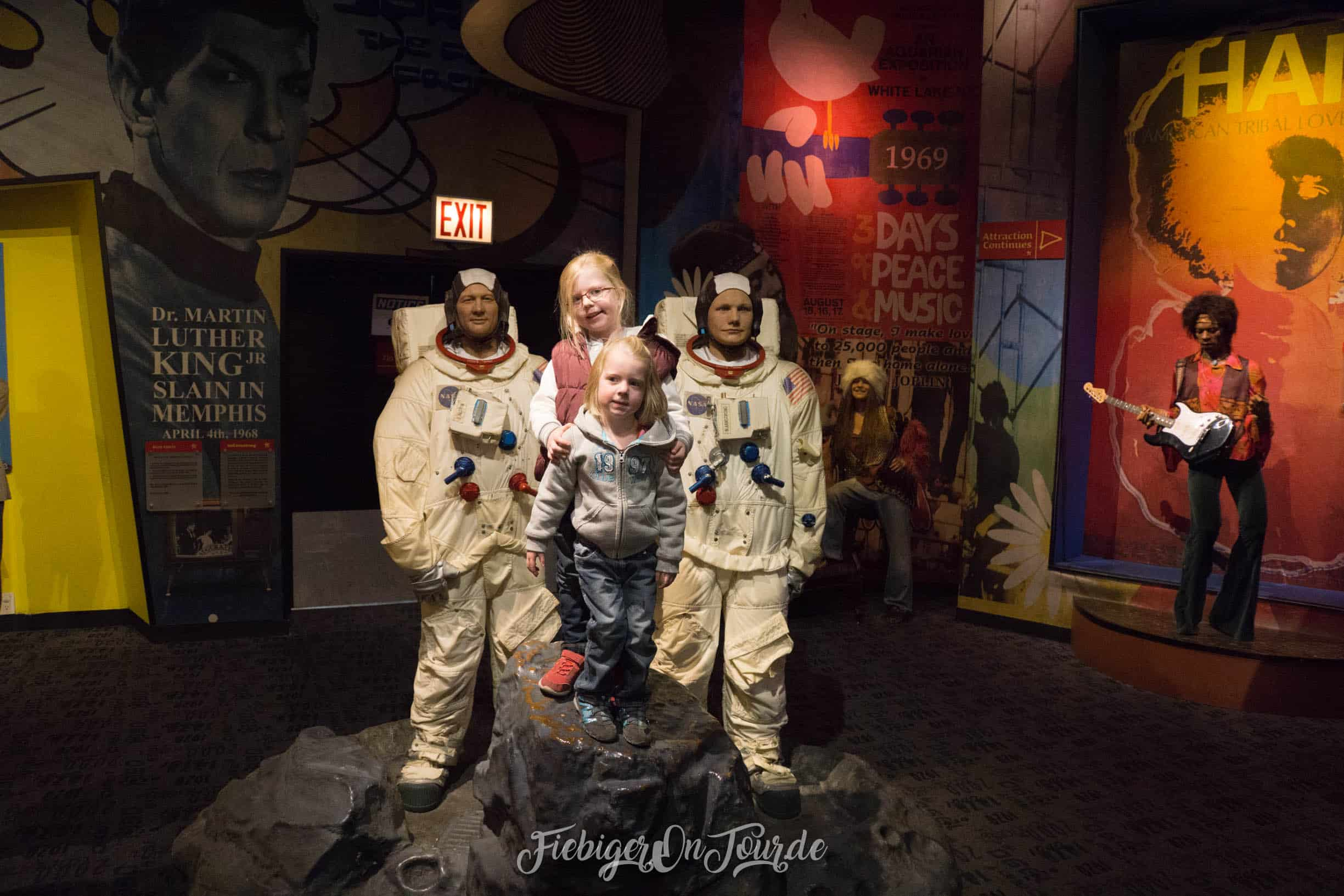 Astronauten in Madame Tussauds